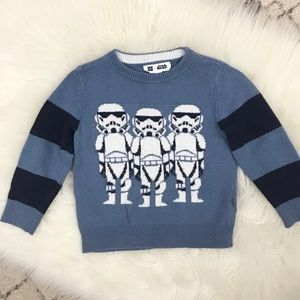 Baby Gap Star Wars Storm Trooper Knit Sweater